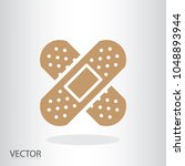 adhesive plaster icon   medical ... | Shutterstock .eps vector #1048893944