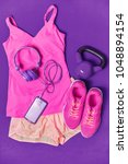 activewear fitness clothes... | Shutterstock . vector #1048894154