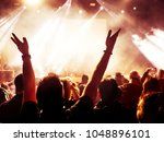 concert crowd in front of... | Shutterstock . vector #1048896101