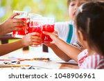 group of asian children... | Shutterstock . vector #1048906961