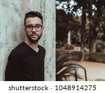 portrait of the hipster bearded ... | Shutterstock . vector #1048914275