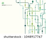 abstract technology background... | Shutterstock .eps vector #1048917767