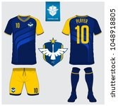 soccer jersey  football kit  t... | Shutterstock .eps vector #1048918805