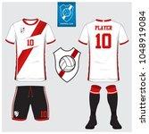 soccer jersey  football kit  t... | Shutterstock .eps vector #1048919084