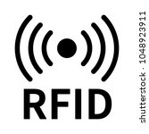 rfid or radio frequency... | Shutterstock .eps vector #1048923911