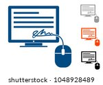 electronic signature  icon a... | Shutterstock .eps vector #1048928489