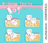 cute cartoon wisdom teeth with... | Shutterstock .eps vector #1048934321