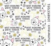 west highland white terrier  ... | Shutterstock .eps vector #1048937051