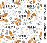 basenji   dog breed collection  ... | Shutterstock .eps vector #1048937081