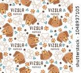 vizsla   dog breed collection   ... | Shutterstock .eps vector #1048937105