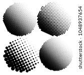 set of halftone dots vector... | Shutterstock .eps vector #1048937654