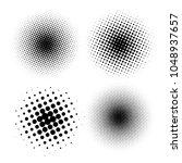 set of halftone dots vector... | Shutterstock .eps vector #1048937657