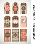 vintage label style with nine... | Shutterstock .eps vector #104893955