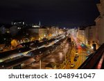 urban street at night with...   Shutterstock . vector #1048941047