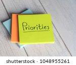 priorities reminder handwriting ... | Shutterstock . vector #1048955261