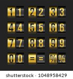 vector countdown timer and date ... | Shutterstock .eps vector #1048958429