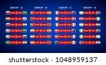 football matches between teams... | Shutterstock .eps vector #1048959137