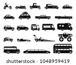 old car and other vehicle... | Shutterstock .eps vector #1048959419