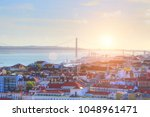 colorful streets of lisbon | Shutterstock . vector #1048961471