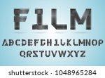 vector illustration alphabet... | Shutterstock .eps vector #1048965284