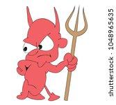 vector illustration of devil... | Shutterstock .eps vector #1048965635
