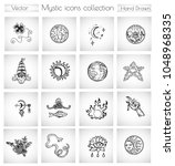 vector doodle collection with... | Shutterstock .eps vector #1048968335