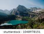 Grinnell Lake, Glacier National Park, Montana, United States - stock photo