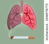 dangers of smoking  nicotine... | Shutterstock .eps vector #1048978775