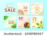 collection of social media web... | Shutterstock .eps vector #1048980467