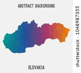 slovakia map in geometric...   Shutterstock .eps vector #1048987355