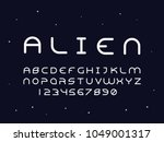 alien regular font. vector... | Shutterstock .eps vector #1049001317