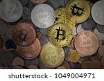 bitcoins among others ...   Shutterstock . vector #1049004971