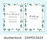wedding invitation  thank you... | Shutterstock .eps vector #1049015624