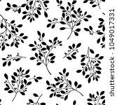 abstract plants illustration. | Shutterstock .eps vector #1049017331