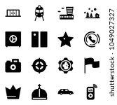 solid vector icon set  ... | Shutterstock .eps vector #1049027327
