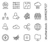 thin line icon set   web camera ... | Shutterstock .eps vector #1049029727