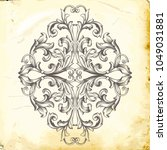 retro baroque decorations... | Shutterstock .eps vector #1049031881