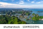 floating fishing village and... | Shutterstock . vector #1049033591