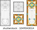 Abstract Glass Panels Geometric ...