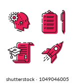 various icons. set of icons. 4... | Shutterstock .eps vector #1049046005