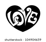 pop art love heart   retro... | Shutterstock .eps vector #104904659