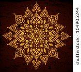 indian vintage gold ornament | Shutterstock .eps vector #104905244