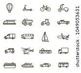 transport signs black thin line ... | Shutterstock .eps vector #1049053631