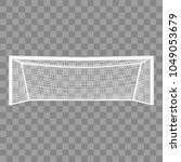 realistic detailed 3d football... | Shutterstock .eps vector #1049053679