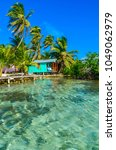 tobacco caye   relaxing at...   Shutterstock . vector #1049062979