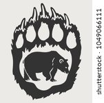 Paw And Bear Silhouette