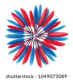 blue and red  feathers.... | Shutterstock . vector #1049073089