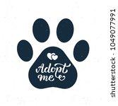 adopt me   hand lettering in...   Shutterstock .eps vector #1049077991