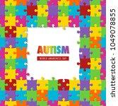 world autism awareness day.... | Shutterstock . vector #1049078855