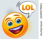emoticon laughing out loud. lol ... | Shutterstock .eps vector #1049079851